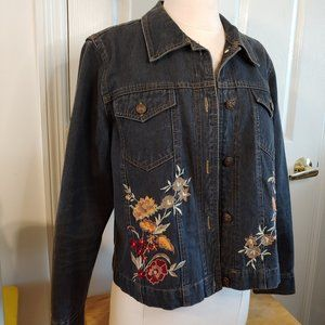 Coldwater Creek | Jean Jacket Embroidered |